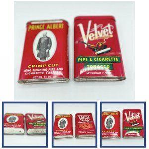 Vintage Prince Albert & Velvet Cigarette Container